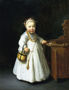 Girl by a High Chair
