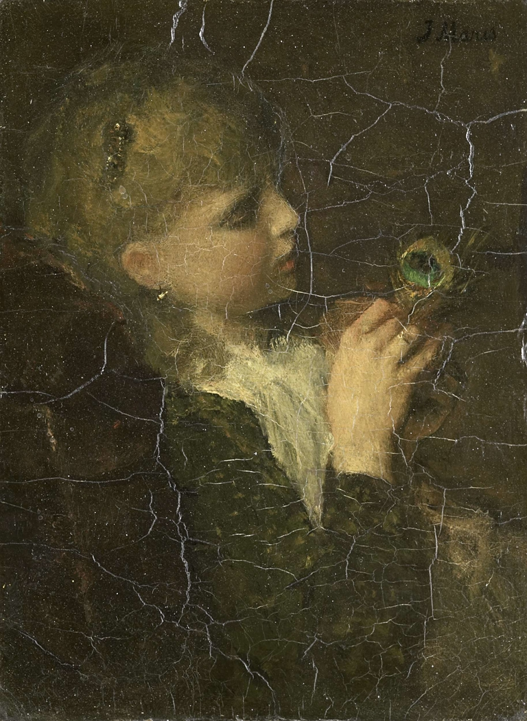 Girl with a Peacock Feather