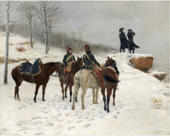 Group of Cavalry in the Snow: Moreau and Dessoles before Hohenlinden