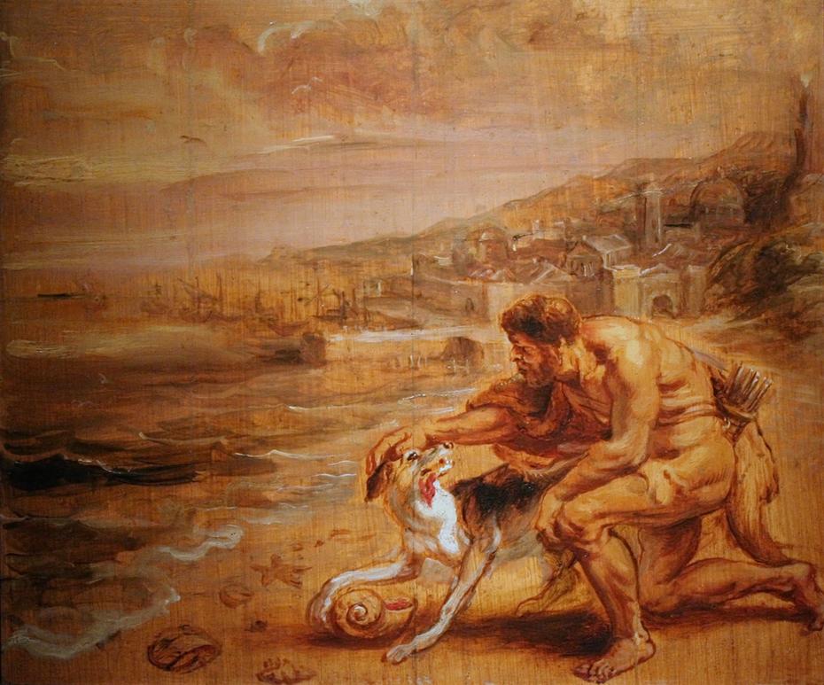 Hercules's dog discovers tyrian purple