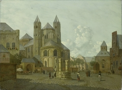 Imaginary Cityscape with Romanesque Church