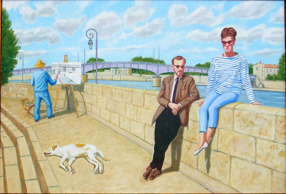 In Arles they encountered the ghost of van Gogh, (2012) Oil on Linen, 66 x 96.5 cm