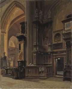 Interior of Saint Mary's Basilica in Kraków