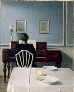 Interior with Woman at Piano, Strandgade 30