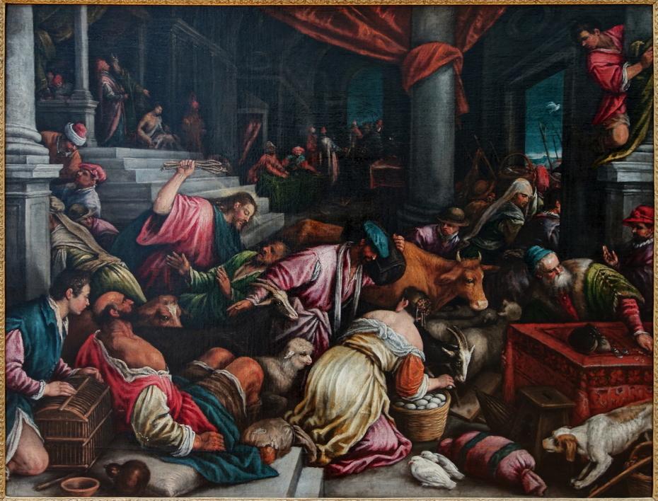 Jésus chasse les marchands du temple