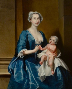Johanna Warner, Mrs Robert of Bedhampton and her Daughter, Kitty, later Mrs Jervoise Clarke Jervoise (d. 1772)