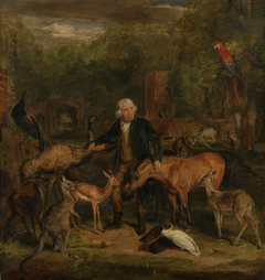 John Clark(e) with the animals at Sandpit Gate