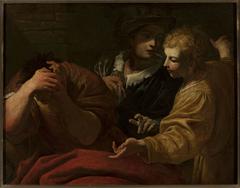 Joseph explaining dreams at the Pharaoh's court