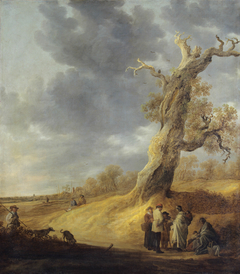 Landscape with Half-leaved Weathered Oak