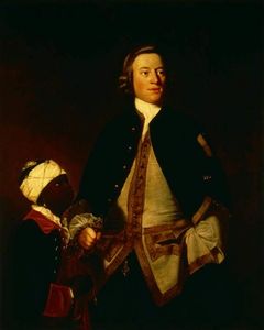 Lieutenant, later Captain, Paul Henry Ourry, MP (1719-1783) with 'Jersey'