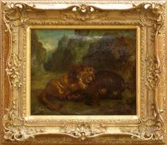 Lion et Sanglier