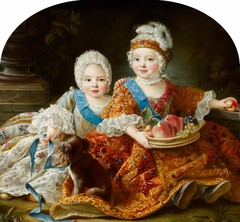 Louis Auguste, duc de Berry (later King Louis XVI, King of France [1754–1793] and Louis-Stanislas-Xavier, comte de Provence (later King Louis XVIII, King of France [1755-1824]) as Children