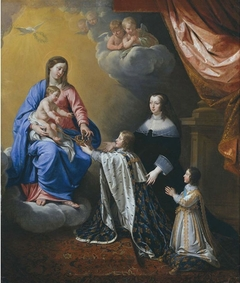 Louis XIV with his mother and brother