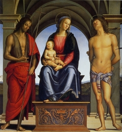 Madonna with Child Enthroned between Saints John the Baptist and Sebastian