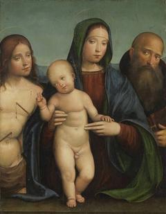 Maria mit Kind, hl. Sebastian und Antonius