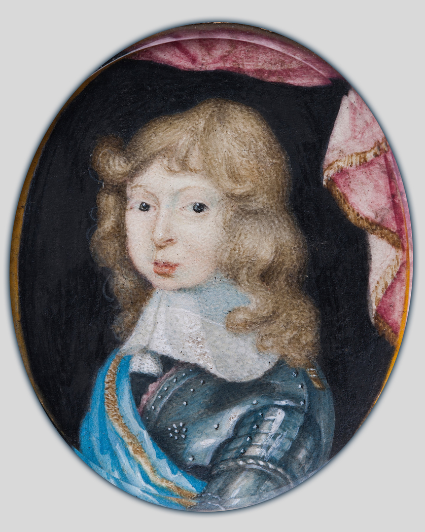 Miniature portrait of Charles XI, King of Sweden 1660-1697, as a child