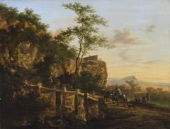 Mountain landscape with a bridge