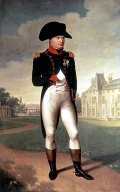 Napoléon Ier devant le château de Malmaison
