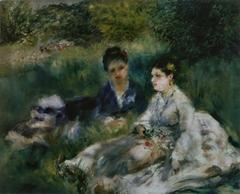 On the Grass (Jeunes femmes assises dans l'herbe)
