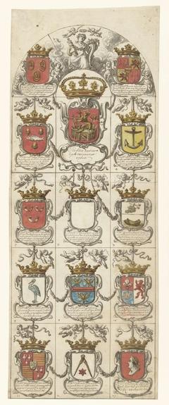 Ontwerp voor glasraam 4 geschonken door de College ter Admiraliteit tot Amsterdam