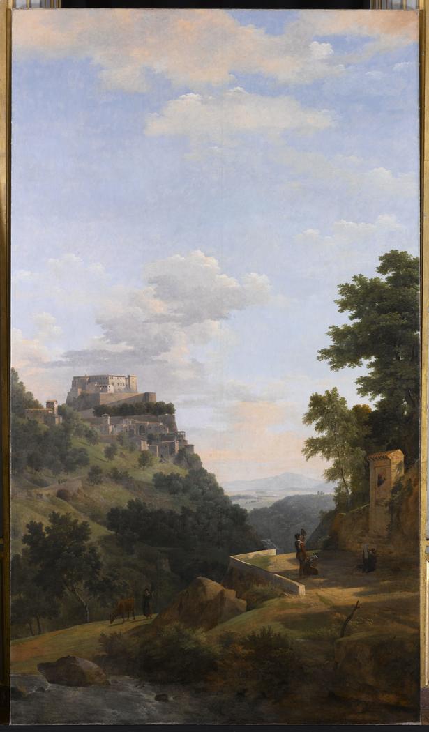 Paysage d'Italie avec architecture et oratoire