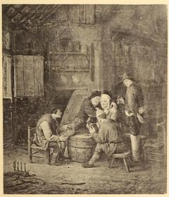 Peasants around a Barrel in an Inn