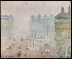 Place du Théâtre-Francais and Avenue de l'Opéra, Fog