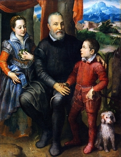 Portrait Group with the Artist's Father, Brother and Sister