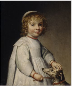 Portrait of a Child with a Dog