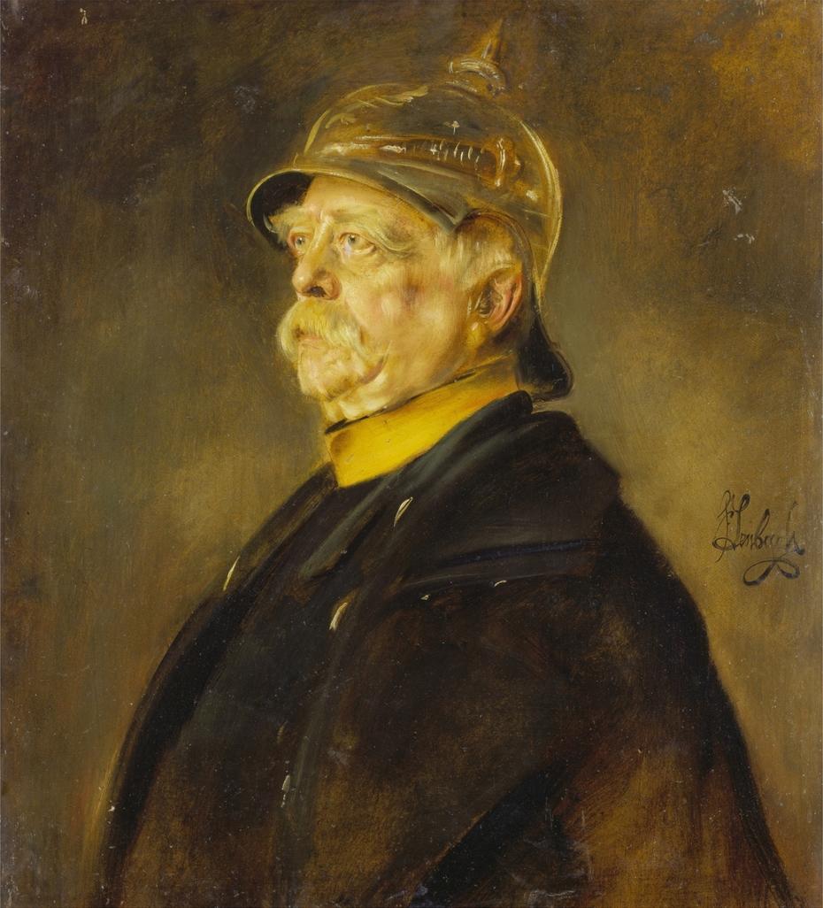 Portrait of Bismarck as officer