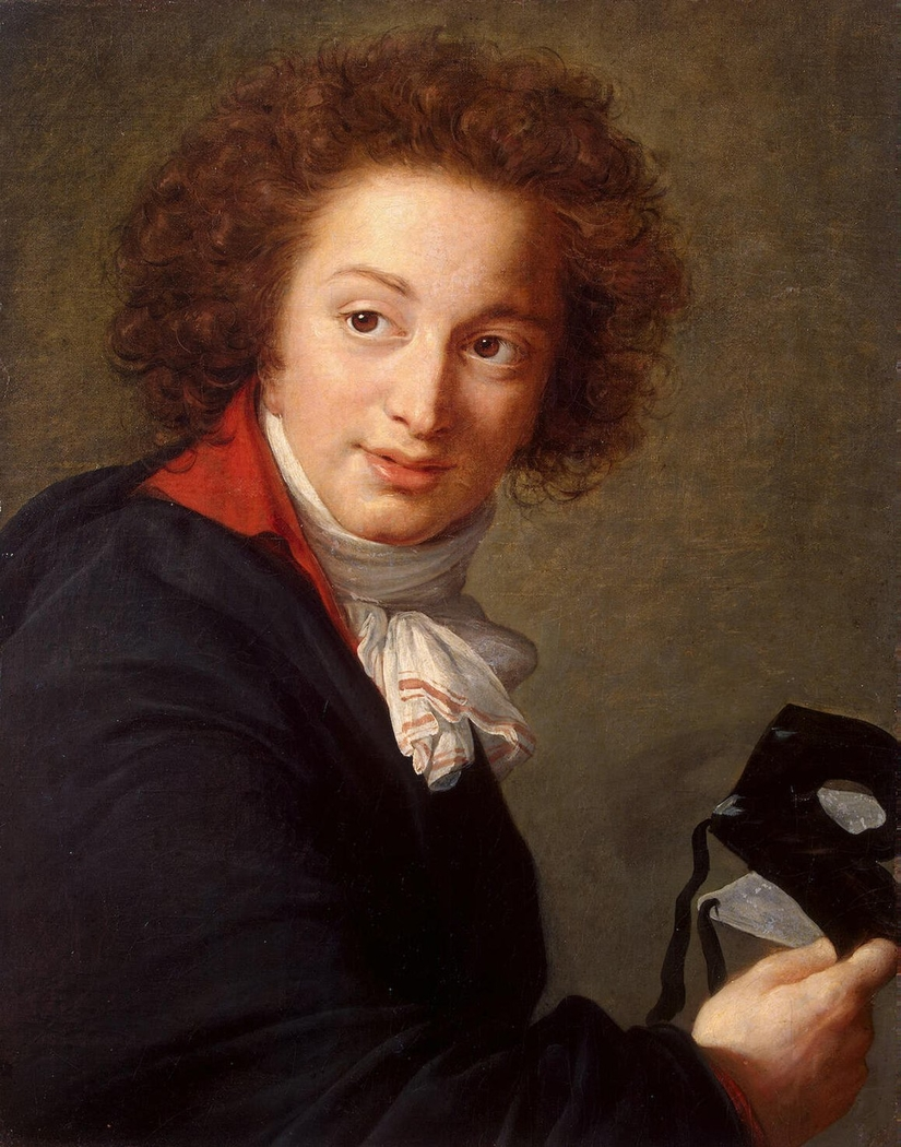 Portrait of Count Grigory Chernyshev with a Mask in His Hand