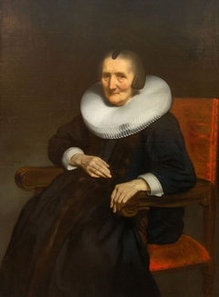 Portrait of Margaretha de Geer aged 86