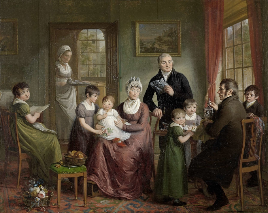 Portrait of the Family of Adriaan Bonebakker with Dirk L. Bennewitz