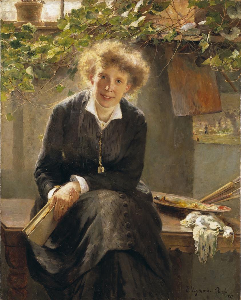 Portrait of the painter Jeanna Bauck