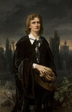 Portrait of Wincenty Rapacki as Hamlet.