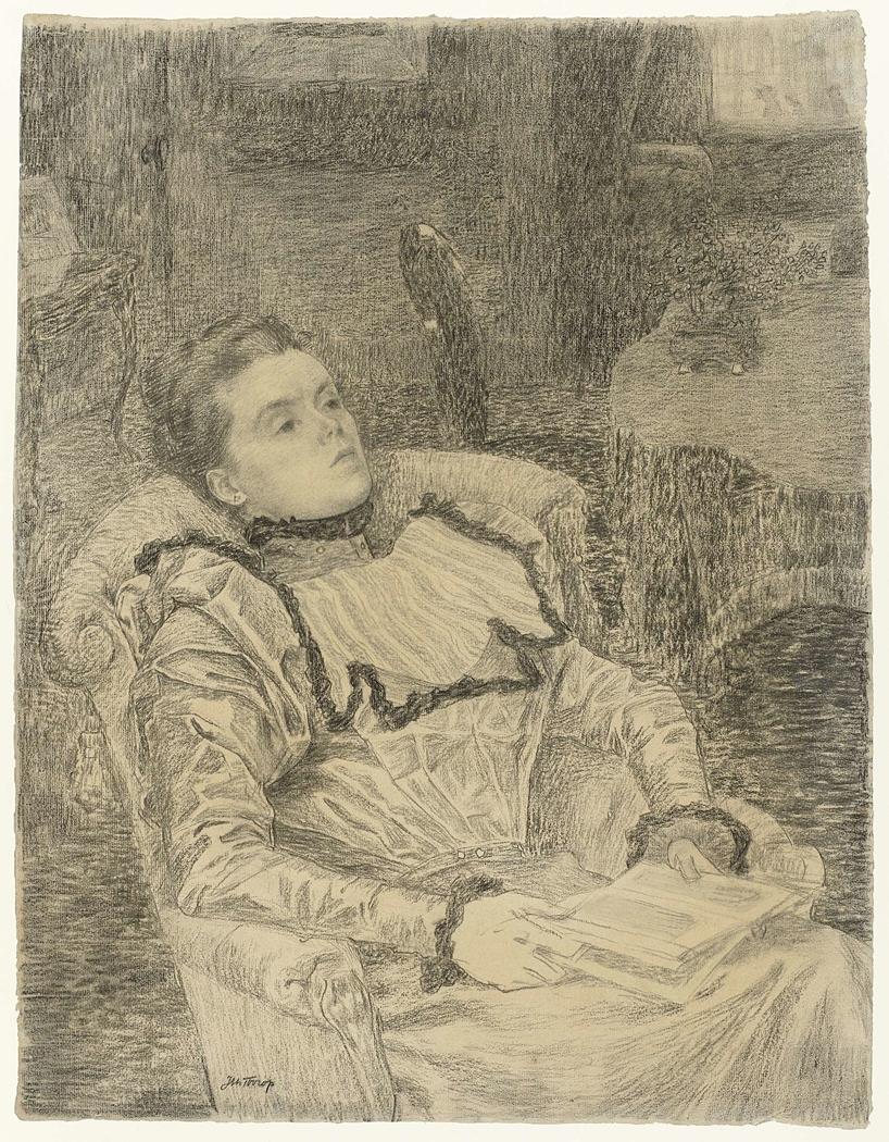 Portret van Annie Toorop
