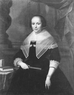 Portret van Jacoba Lampsins (1613/1614-1667), echtgenote van Carel Martens