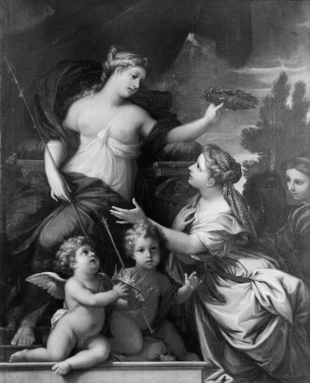 Queen Christina Crowned with Laurels by Wisdom