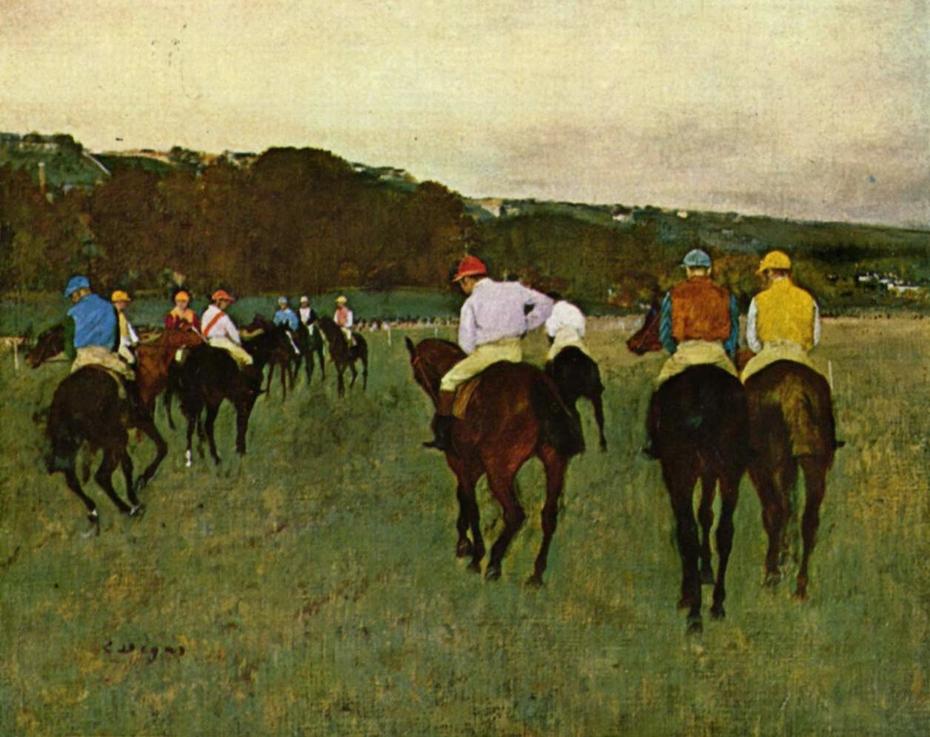 Racehorses at Longchamp