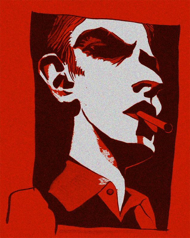 retrato con cigarro