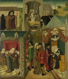 Saint Elizabeth of Hungary Tending the Sick in Marburg, Death of St Elizabeth, inner right wing of an altarpiece made for the Grote Kerk in Dordrecht