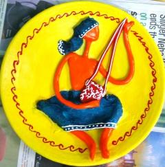 santhal man (clay)