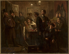 Scene from a beer-house or a tavern