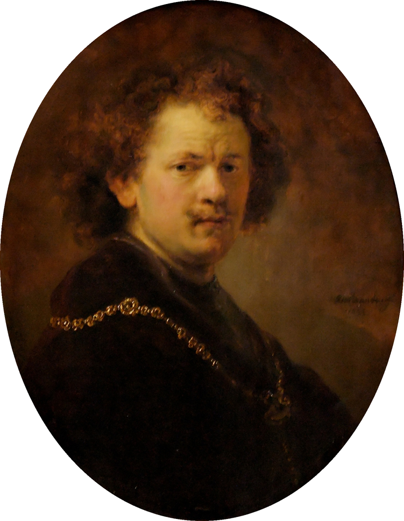 Self-portrait Bare-headed with Gold Chain