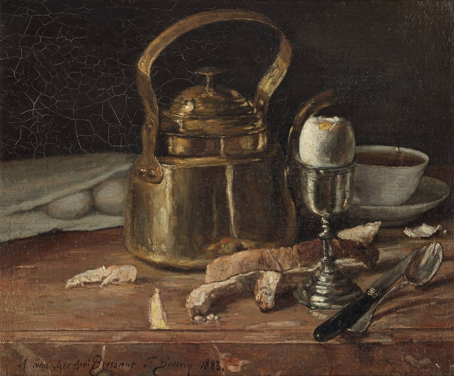 Still Life With Brass Kettle