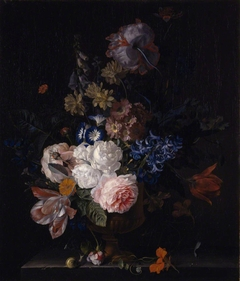 Still-life with Roses, Tulips, Hyacinths and other Flowers in a Classical Urn