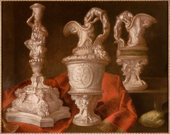 Still life with silver torch