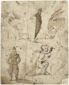 Studies van een engel, een man, een ezel en een konijn