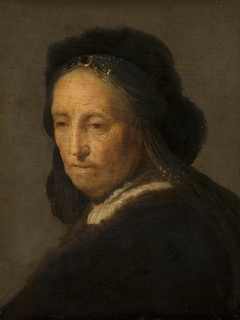 Study of an old woman (Rembrandt's mother)