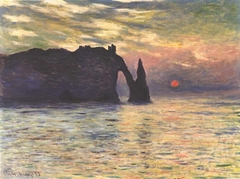 The Cliff, Étretat, Sunset